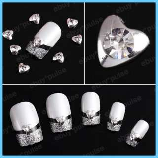 Rhinestones Heart Nail Art Glitters Slices DIY Decorations