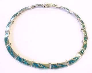 Cubic Zirconia Gold Plated / Sterling Silver Link Necklace ~ 17 1/4