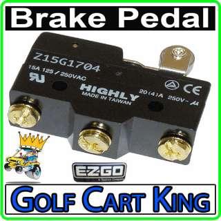 Brake Pedal Micro Switch (3 Terminal) TXT/Marathon Golf Cart