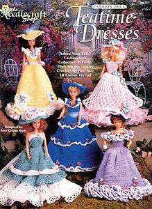 Barbie Fashion Doll TEATIME Five Ballroom Gowns Crochet Pattern