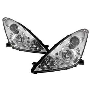 00 04 Toyota Celica Chrome LED Halo Projector Headlights Automotive