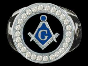 Masonic Square and Compass Silver Plated Ring SZ 9 13