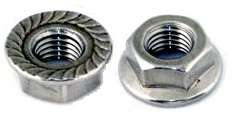 Stainless Steel Flange Hex Nuts 25/PCS 5/16 18