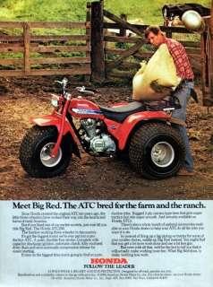 1981 Honda ATC 200 Motorcycle Meet Big Red Original Color Ad