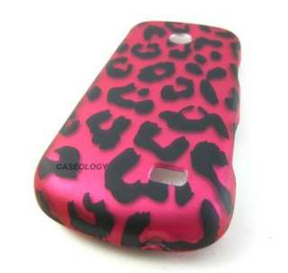 HOT PINK LEOPARD HARD CASE COVER FOR STRAIGHTTALK SAMSUNG T528G PHONE