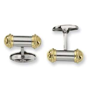 Stainless Steel 24k Gold Plating Cuff Links Jewelry
