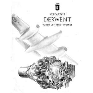 Rolls Royce Derwent Aircraft Engine Brochure Manual Rolls Royce