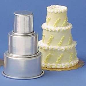 Magic Line 3 Piece Mini Tier Mini Round Aluminum Cake Pan Set