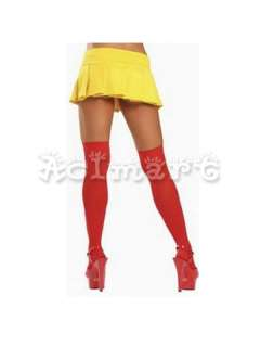Runway Two Tone Tights Pantyhose Stockings Red&Black NW