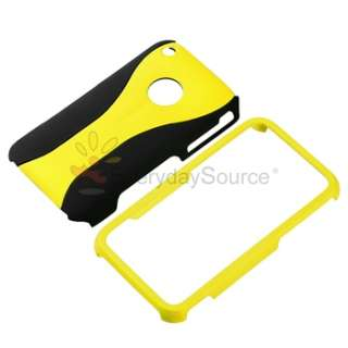 Piece Rubber Hard Case Skin Cover For iPhone 3G 3GS Black/Yellow