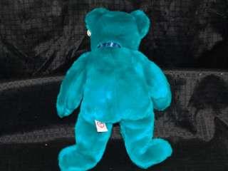 Ty Beanie Buddy Teal Old Faced Plush Teddy Bear MWMT
