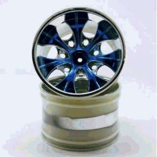 Blue Anodized Wheels   For All Redcat Racing Vehicles Toys & Games