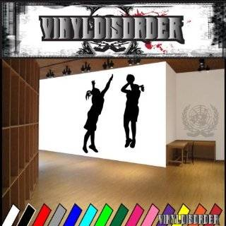 Girl Basketball Player Decal Wall Sticker Removable Wall Art Lettering