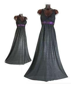 New MontyQ Long Maternity Black Elegant Evening Party Maxi Dress Gown