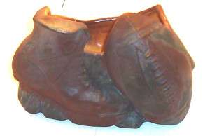 1950s McCoy Pottery Football Shoe & Football Planter
