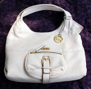 NWT MICHAEL KORS AUSTIN HANDBAG LARGE SHOULDER TOTE VANILLA LEATHER $