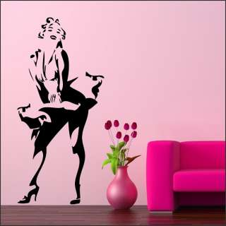 Wall Stickers Vinyl Art Decal Marilyn Monroe 47x22 in.