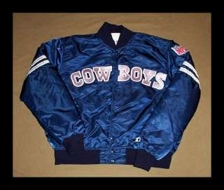 VINTAGE Dallas Cowboys JACKET Football STARTER Large NFL Satin RARE w