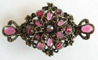 SWAROVSKI CRYSTAL BRONZE FLORAL HAIR CLAW CLIP 147 VINTAGE STYLE