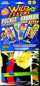 Wild Flyer Pocket Parafoil Kite 24in X 32in with winder & 120 ft. line