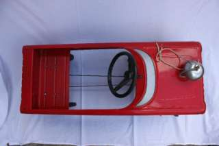 Vintage Metal Fire WF Chief PEDAL CAR Ride On Made in the Olney IL USA