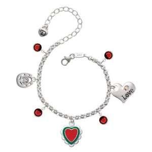 White Ruffles Love & Luck Charm Bracelet with Siam Swa Jewelry