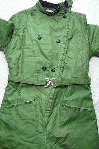 Womens Vtg Green Snowmobile Suit Midwest Outerwear L