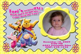 Winnie the Pooh Personalized Birthday Party Invitation