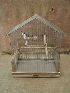 Vintage Bird Cage  Old Antique Cages Birds Stand Pacific Shabby 6516