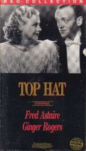 VHS TOP HAT.FRED ASTAIRE GINGER ROGERSNEW