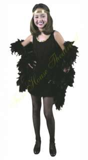 roaring 20s black fashion flapper x large child costume dress