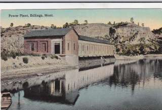Power Plant Billings Montana old 1900s view postcard
