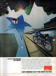 1975 Harley Davidson SX 250 Motorcycle Original Rare Ad