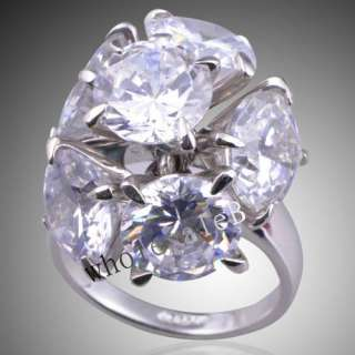 Platinum Plated finger RING Elegant Ladiese Party Jewelry