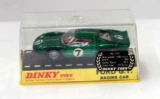 DINKY TOYS 215 FORD GT40 SPORTS RACING CAR METALLIC GREEN MIB