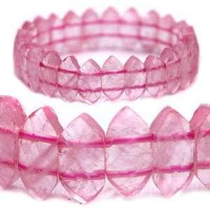 Rose Quartz Point Crystal Bracelet