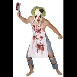 Evil Clown Man Mens Halloween Costume Adult Large Scary Bloody Killer