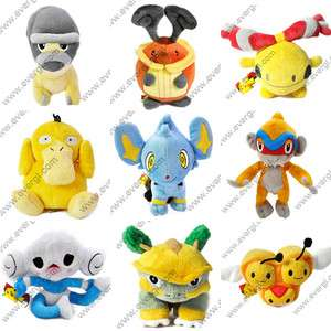 New Pokemon Figures 6 Plush Soft Doll Toy Set