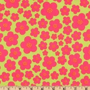 44 Wide Michael Miller Flora And Fauna Blossom Raspberry
