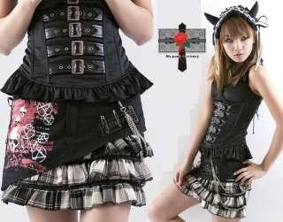 Japan NANA Visual Punk Princess Tartan Kilt Emo Skirt W