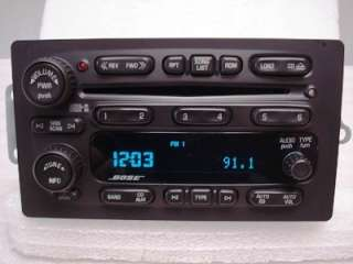05 06 CHEVY Trailblazer GMC Envoy Rainier Radio 6 CD Player BOSE Disc