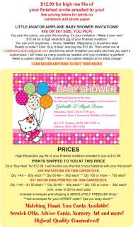 Hello Kitty Custom Birthday Baby Shower Invitations