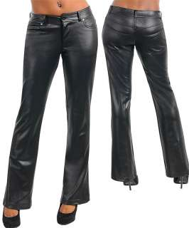 NWT INDICATIONS black pleather low rise bootcut pants 3 5 7 9 11 13