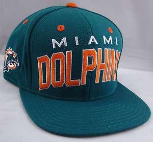 NFL 2011 Miami DOLPHINS Retro Snapback Cap Hat Aqua Blue Reebok New