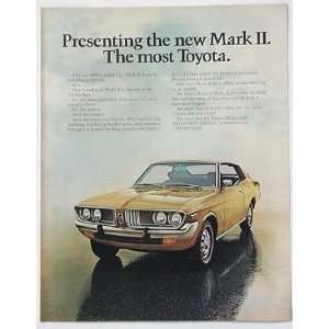 1972 Toyota Mark II Print Ad (2765): Home & Kitchen