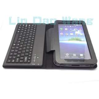 Leather Case With Bluetooth and Keyboard For Samsung Galaxy Tab P1000