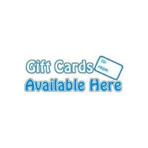 Gift Cards Available Here Window Cling Sign Home Improvement