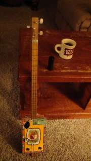 String Electric/Acoustic Cigar Box Guitar ~ Cohiba ~ Banjo