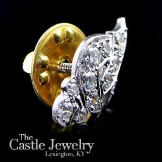 SHRINERS MASONIC CRESCENT SWORD .63 DIAMOND LAPEL PIN