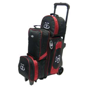 Elite Deluxe 2 3 4 Roller Burgundy/Black Bowling Bag